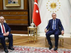 Cumhurbaşkanı Erdoğan AK Parti Genel Başkanı Yıldırım'ı kabul etti