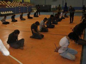 Nusaybin'de teslim olan 25 terörist emniyete sevk edildi