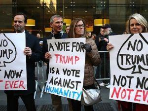 ABD'de Trump karşıtı gösteri