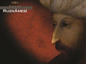 Fetih Ruznamesi yayımlandı
