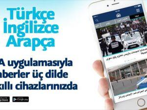 AA'nın mobil uygulamalarına Arapça dil seçeneği eklendi