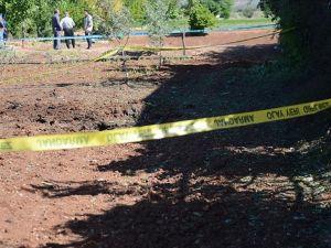 Oğuzeli'nde boş araziye 2 roket mermisi düştü