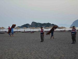İztuzu Plajı'nda tahliye tamamlandı