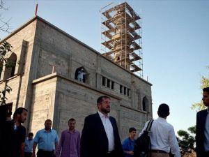 TDV heyetinden Gazze'deki cami inşaatlarında inceleme