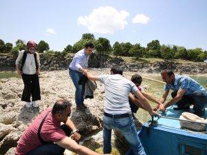 Hacıakif Adasına ziyaretçi akını