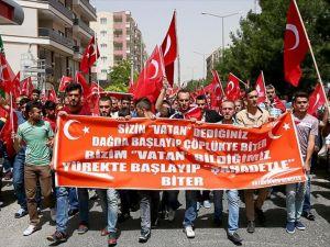 Midyat'ta terör saldırısı protesto edildi