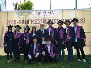 Mehmet Nuri Kağnıcıoğlu ve arkadaşlarının mezuniyet karesi