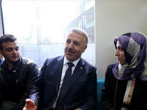 Marmaray'ı kullanan vatandaşlara 'Bakan' sürprizi