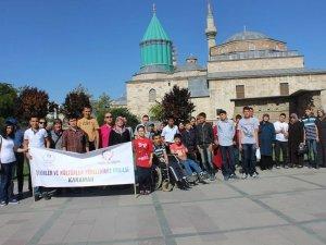 Engelli öğrenciler Konya'yı gezdi