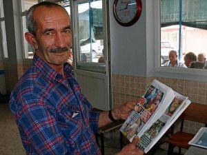 'Her gün onun haberlerini okuyordum. Bir baktım karşımda duruyor adam'