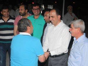 Başkan Altay teravihte vatandaşlarla buluştu