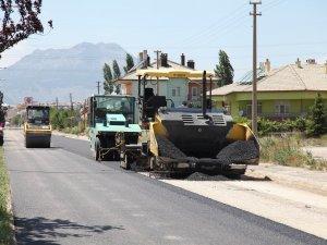 Seydişehir'de asfaltlama çalışması sürüyor