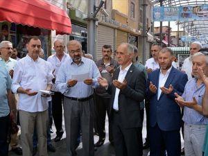 Tarihi kapalıçarşıda 'bereket' duası yapıldı