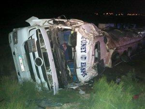 Tanker devrildi: 1 ölü
