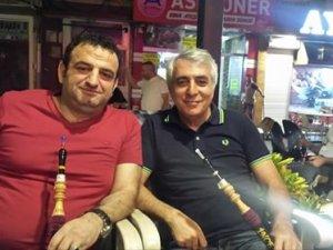 Ahmet Gürsel Oğuz ile Okay Tınkır  Tarihi İnce Minare'de nargile keyfinde