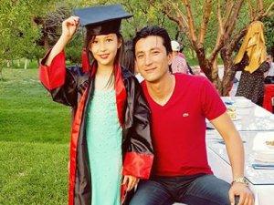 Turgut Korkmaz'ın kızı ile mezuniyet hatırası