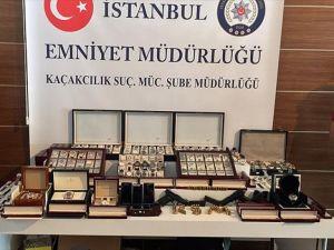 İstanbul'da 21 milyon 500 bin liralık lüks saat operasyonu