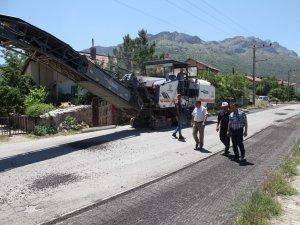 Seydişehir'de asfaltlama çalışmaları