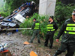 Çin'de otobüs kazası: 30 ölü