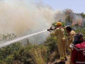 Adrasan'daki orman yangınına müdahale ediliyor