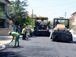 Meram'da 14 sokak asfaltlandı