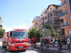Beyşehir'de çatı yangını