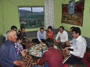 Kaymakam Özyiğit ve Başkan Tutal iftar sofrasında