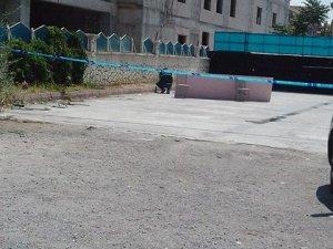 Otel inşaatında intihar