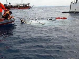 Akdeniz'de tekne battı