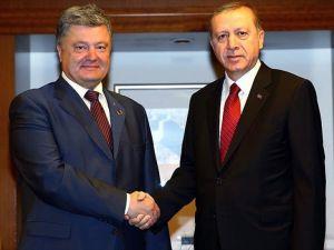 Erdoğan ile Ukrayna Devlet Başkanı Poroşenko görüştü