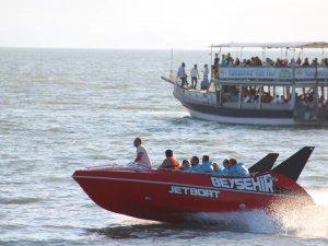 Beyşehir Gölü'nde jetboat turları başladı