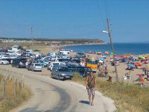 Saros Körfezi'nde tatilci yoğunluğu