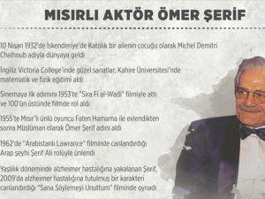 Mısırlı aktör Ömer Şerif'in ölümünün 1. yılı