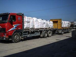Yardımların bir kısmı daha Gazze'ye ulaştı