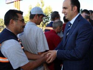 Selçuklu Belediyesi'nde Başkan Altay personelle bayramlaştı