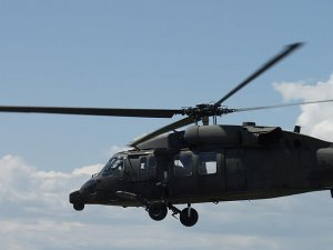 Türk askeri helikopteri Dedeağaç'a indi