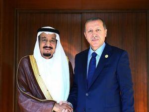 Cumhurbaşkanı Erdoğan, Suud Kralı Selman İle Telefonda Görüştü