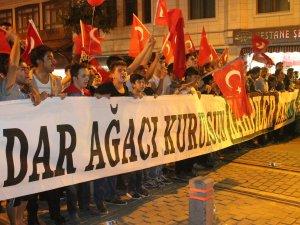 Konya'da darbe girişimine tepki