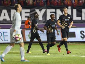 Osmanlıspor Avrupa'da Turu 5 Golle Geçti