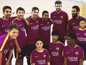 Barcelona'dan Çocuklara Sürpriz