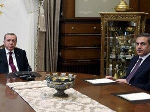Cumhurbaşkanı Erdoğan, MİT Müsteşarı Fidan'ı kabul edecek