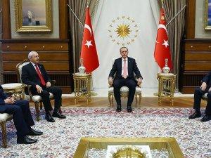Cumhurbaşkanı Erdoğan'ın liderleri kabulü başladı