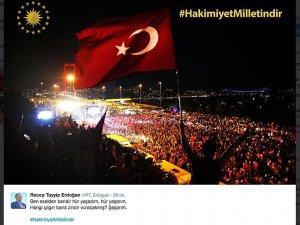 Erdoğan'dan #hakimiyetmilletindir Paylaşımı