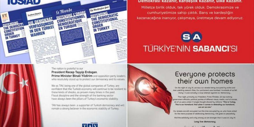 Türk Şirketlerinden Dünyaya 'Demokrasi' İlanı
