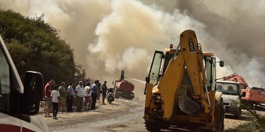Bodrum'daki Çöplük Yangını Kontrol Altına Alındı