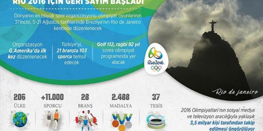 Rio 2016 İçin Geri Sayım Başladı