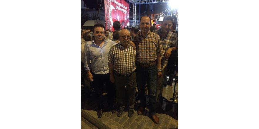 Başkanlar Mehmet Ali Atiker ile birlikte