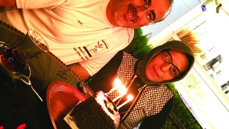 İşkan çiftinden yaş pastalı kutlama