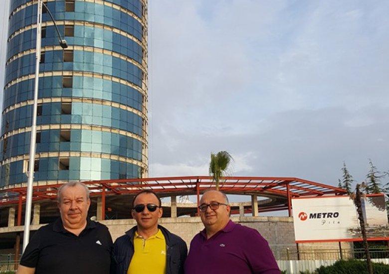 İbrahim Azman, Mehmet Şenkesek ve Galip Öztürk Batum'da