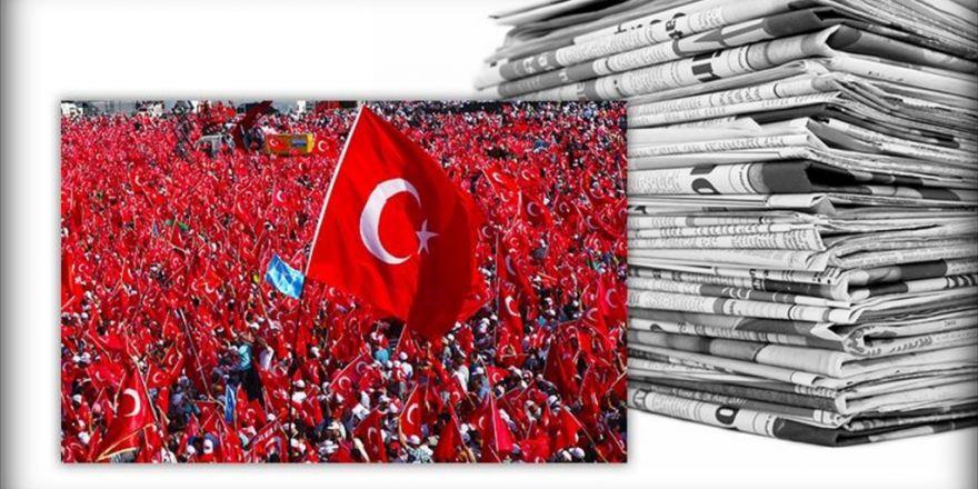 Avrupa Medyasında 'Demokrasi Ve Şehitler Mitingi'